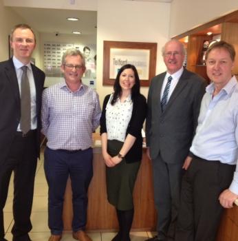 Jim Shannon visits Telford Opticians